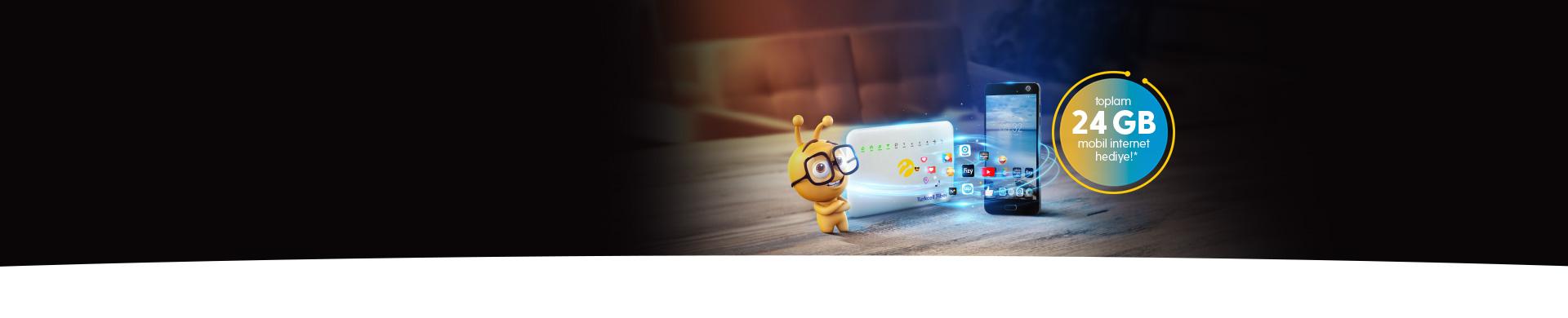 Turkcell Fiber Cebinize Taşıyor Şimdi Turkcell Fiber'e gelenlere mobil internet hediye!