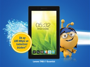 Lenovo Tab 3 7 Essential Kampanyası